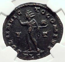 CONSTANTINE I the GREAT 310AD Authentic Ancient Roman Coin w SOL SUN NGC i72795