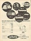Publicité Advertising 1962 La Hutte tente brise table chaise matelas camping
