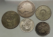 GROUP LOT of 5 Old SILVER Europe or Other WORLD Coins for your COLLECTION i53821