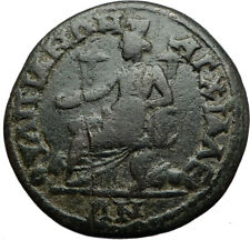 SEPTIMIUS SEVERUS 193AD Anchialus Thrace Ancient Roman Coin CYBELE LIONS i71025