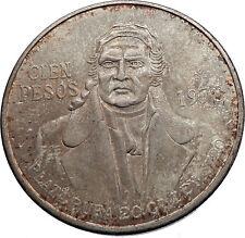 1978 Mexican Independence HERO Jose Maria Morelos Silver 100 Peso Coin i72027