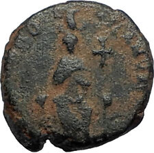 EUDOXIA Arcadius Wife 400AD Authentic Ancient Roman Coin HAND OF GOD i67699
