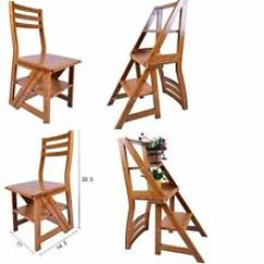 Folding Chair Kitchen Swivel On Carpet Chairs Ebay Library Step Ladder For Office Home Use Fast Uk Delivery