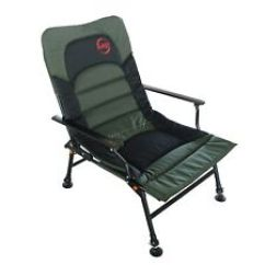 Fishing Chair Add Ons Chairs For Sporting Events Bed Ebay Camping Xl Carp Green Equipment Folding Adjustable Legs