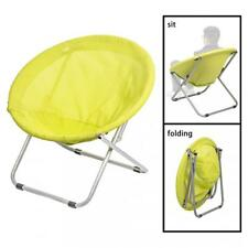 folding chair round grey recliner cover corduroy chairs ebay large saucer moon outdoor patio leisure seat living