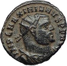 MAXIMIAN Authentic Ancient Genuine 305AD Alexandria Roman Coin w JUPITER i67448