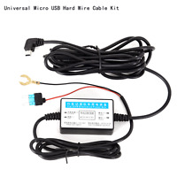 Car dash camera cam hard wire kit mini USB for car
