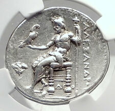 ALEXANDER III the Great Ancient Silver Greek Tetradrachm Coin MEMPHIS NGC i72381