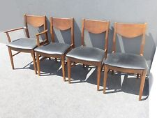 danish modern dining chair back support cushion for office uk antique chairs 1950 now ebay vintage mid century black vinyl room by stanley
