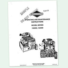 Briggs & Stratton Stationary Engine Manuals & Books for