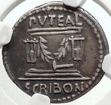 Roman Republic Rome FORUM Building 62BC Genuine Ancient Silver Coin NGC i67869