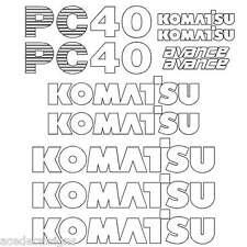 Komatsu Heavy Equipment Decals & Emblems for Excavator