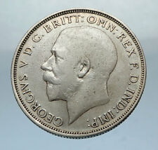 1920 United Kingdom Great Britain GEORGE V Silver Florin 2 Shillings Coin i66836