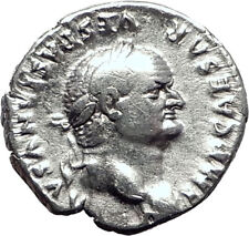 VESPASIAN 69AD Rare Authentic Genuine Ancient Silver Roman Coin Jupiter i64472