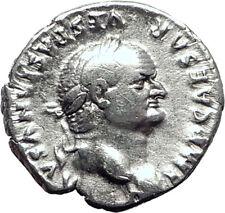 VESPASIAN 69AD Rare Authentic Genuine Ancient Silver Roman Coin Jupiter i64472