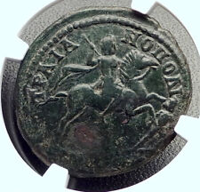 CARACALLA on HORSE Authentic Ancient Trajanopolis Thrace Roman Coin NGC i72662