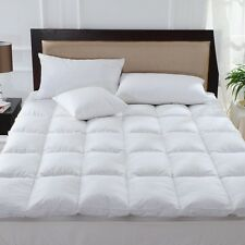100 Pure Duck Feather Down Mattress Topper Matress Cover Available In All Si