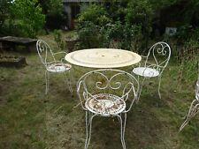 chaise de jardin en fer ancienne en