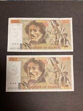 500 Anciens Francs En Euros : anciens, francs, euros, Billets, Anciens, Francs, Vente
