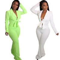 New Stylish Women S Tie Dye Print Casual Short Sleeves Pants Set Outfits 2pcs Ebay