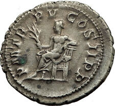 GORDIAN III  240AD Authentic Genuine Silver Ancient Roman Coin APOLLO i65449