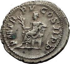 GORDIAN III  240AD Authentic Genuine Silver Ancient Roman Coin APOLLO i65449