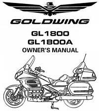 Honda GL1800 Gold Wing Repair Motorcycle Manuals and