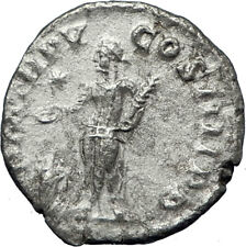 ELAGABALUS at Altar Sacrificing Ancient 222AD Rome Silver Roman Coin i69956