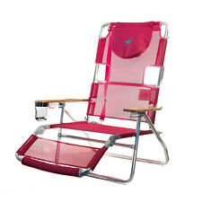 pink beach chair swing to buy patio chairs ebay ostrich 3 n 1 lightweight outdoor lounge 5 position reclining