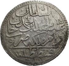 1783 Yr 11 Ottoman Empire Silver 2 Zolota w ABDUL HAMID I Antique Coin i71830
