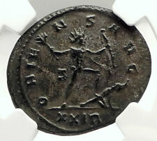 AURELIAN Authentic Ancient 274AD Rome Genuine Roman Coin SOL ENEMY NGC i76294