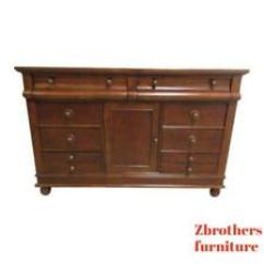 Bernhardt Brown Leather Club Chair Posture Promoting Ebay Old World Chest Dresser Sideboard Console Cabinet