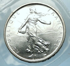 1964 FRANCE French LARGE Silver 5 Francs Coin w La Semeuse SOWER WOMAN i68203