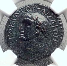 VESPASIAN Authentic Ancient MACEDONIA Koinon Greek Shield Roman Coin NGC i72652