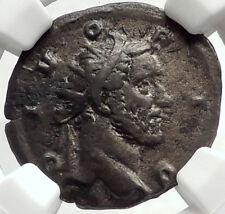 Divus ANTONINUS PIUS 249AD RARE Silver Roman Coin Trajan Decius NGC i68616