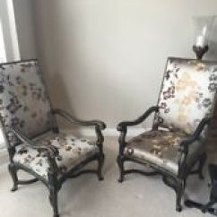 Marge Carson Chairs Toddler Folding Chair Living Room Home Garden Furniture Ebay 1636 401 Pair Of 2 French Louis Xvi Arm With Giltwood