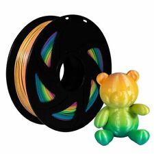 3D Printer Rainbow PLA 1.75mm Changing Filament 1kg Multicolor Colorful MakerBot