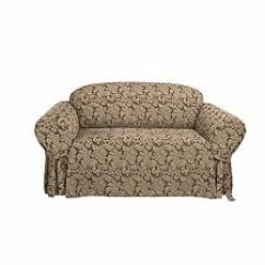 Sure Fit Stretch Pearson 3 Pc Sleeper Sofa Slipcover Full Kevin Charles Seater Brown Furniture Slipcovers Ebay Scroll One Piece