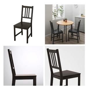 Blueocean furniture set di 2 sedie da cucina imbottite per sala da pranzo, salotto, salotto, sala per il tempo libero, sedia in lino con schienale per camera da letto, comode sedie per casa, grigio. Sedie Ikea In Legno Massiccio Per La Casa Acquisti Online Su Ebay