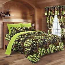 Queen Size Lime Camo Bedding 1 PC Comforter Only Spread Green