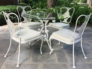 woodard white wrought iron tabletop