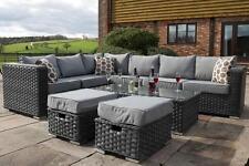 garden corner sofa with dining table klyne patio sofas ebay rattan 8 seater bench set furniture cover