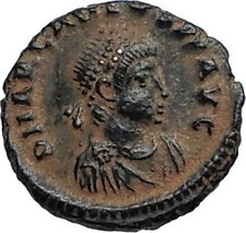 ARCADIUS Authentic Ancient Genuine 383AD Roman Coin of Antioch w WREATH i67088