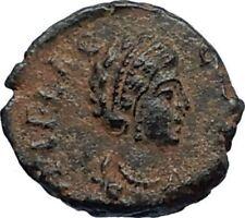 AELIA FLACILLA Theodosius I Wife 383AD Ancient Roman Coin VICTORY CHI-RHO i67687