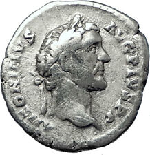 ANTONINUS PIUS 139AD Authentic Ancient Silver Roman Coin Fortuna i70384