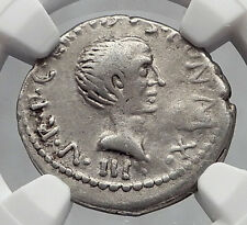 LEPIDUS - JULIUS CAESAR Ally Triumvir Augustus 43BC Silver Roman Coin NGC i61060
