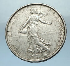 1962 FRANCE French LARGE Silver 5 Francs Coin w La Semeuse SOWER WOMAN i68213