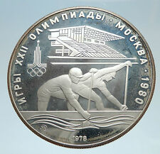 1978 MOSCOW 1980 Russia Olympics Silver 10 Rouble Coin i75156