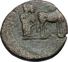 AUGUSTUS 27BC Philippi Macedonia PRIESTS Founding City Oxen Roman Coin i66692