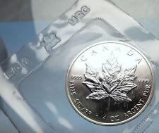 1989 CANADA Authentic Silver 1oz Coin UK Queen Elizabeth II & MAPLE LEAF i70902